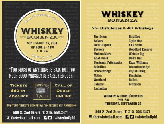 A Whiskey Bonanza at the Twisted Tail