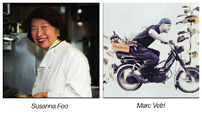 Image of Chef Susanna Foo and Chef Marc Vetri. Former Philadelphia PR clients of Breslow Partners.