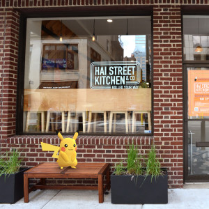 Catch a pokemon in front of Hai Street Kitchen, Ai Ramen, or Wok Street for a discount