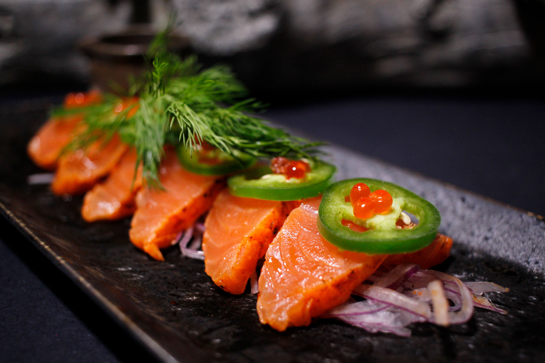 Fire Salt Salmon Tataki